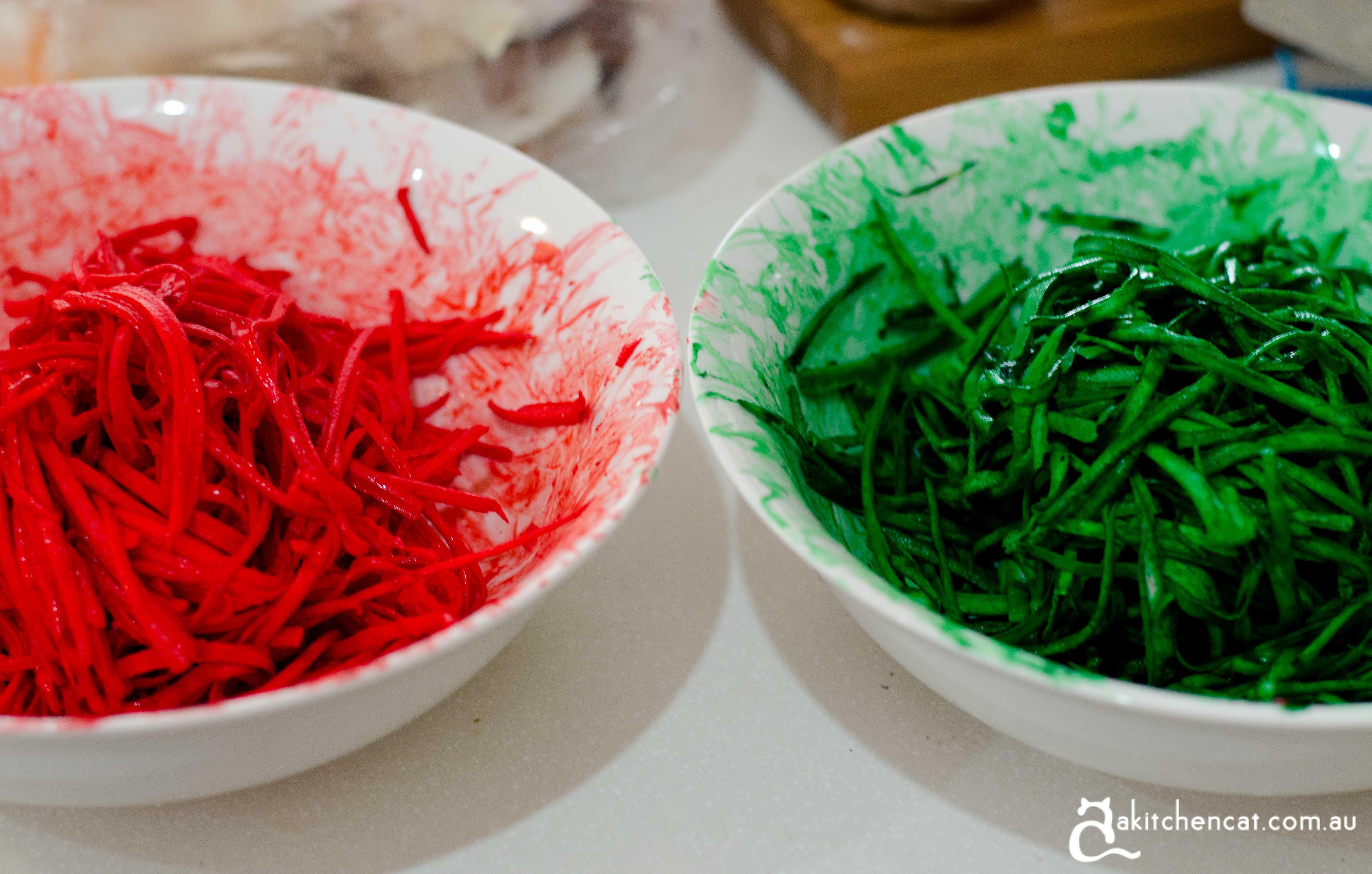 coloured taro