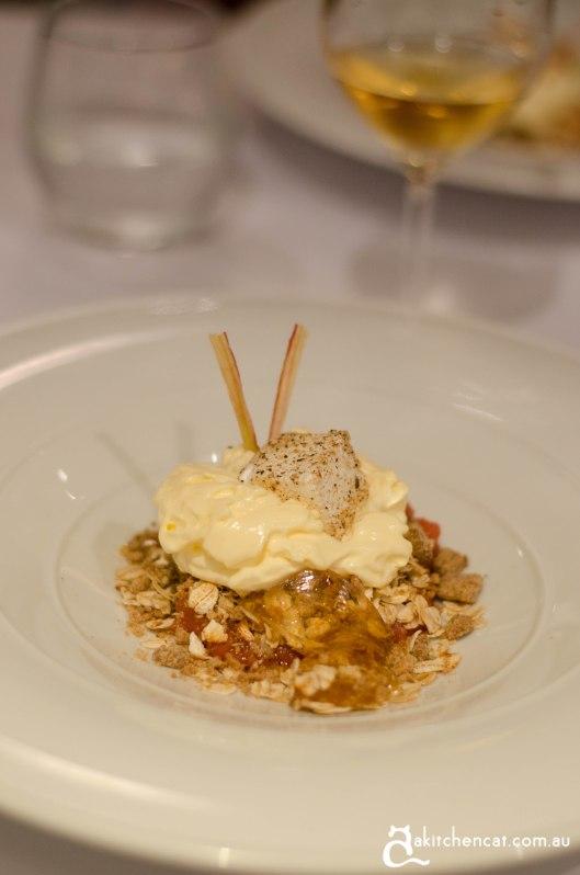 sage dessert oatmeal crumble