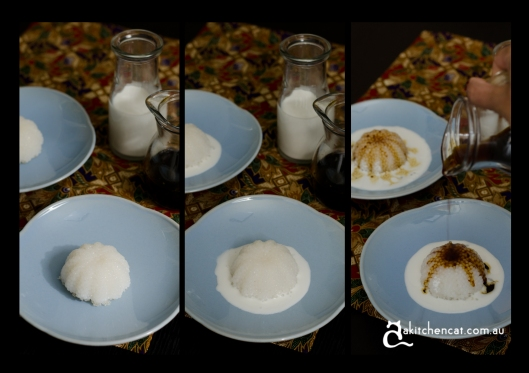 sago gula melaka serving