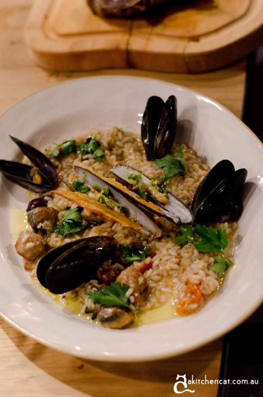 land and sea risotto